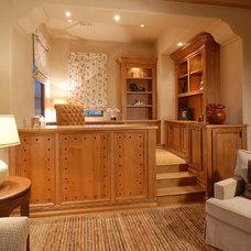 Mediterranean Home Office by Craig Wickersham Inc