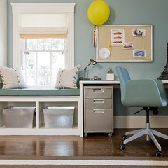 eclectic home office by Lovejoy Designs