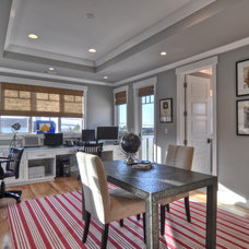 Traditional Home Office by LuAnn Development, Inc.
