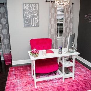 Свежая идея для дизайна: кабинет в современном стиле - отличное фото интерьера