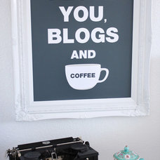 """Eclectic Home Office madebygirl-I love you, blogs & coffee"""" print"""