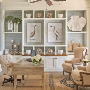 75 Beautiful Beach Style Home Office Pictures Ideas Houzz