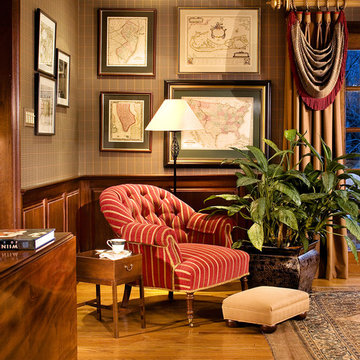 Mahogany Library- Home Office-Peter Rymwid Photography- Cover shot