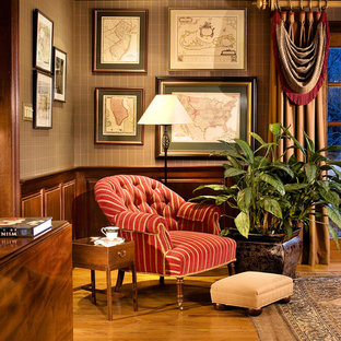 Home office - traditional medium tone wood floor home office idea in Newark