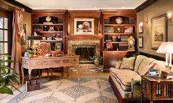 Mahogany Library- Home Office-Peter Rymwid Photography