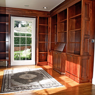 Inspiration for a timeless home office remodel in Seattle