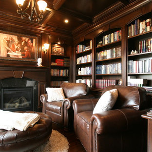 Example of a classic home office design in Other