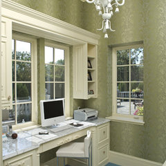 eclectic home office by John Kraemer & Sons