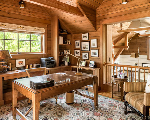 50 Best Rustic Home Office Ideas | Houzz