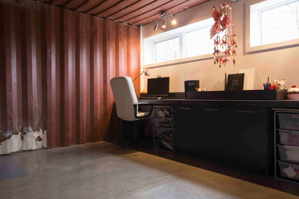 Industrial Home Office by Les Collections Dubreuil
