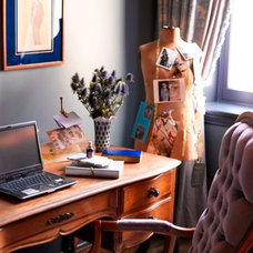 Eclectic Home Office by Kishani Perera Inc.