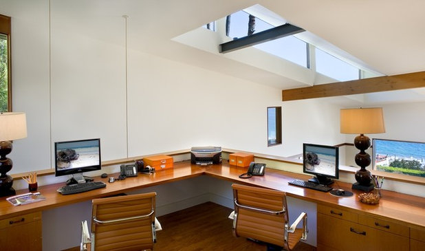 Contemporary Home Office by Tracy Murdock Allied ASID