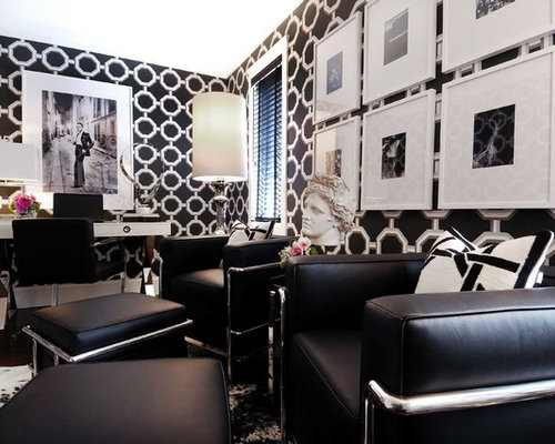 Excellent Black And White Home Office Design Ideas Remodels Photos Largest Home Design Picture Inspirations Pitcheantrous