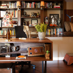 eclectic home office by Joe Schmelzer, Inc. dba Treasurbite Studio, Inc.