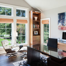 Transitional Home Office by Francesca Owings Interior Design