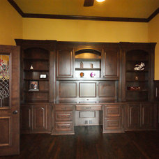 Traditional Home Office by Victor Myers Custom Homes & Real Estate