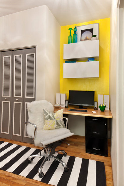 Modern Home Office by Pizzigati Designs- eco chic interiors