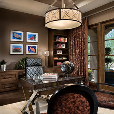 Contemporary Home Office by Charles Glover Interiors