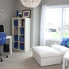 "Contemporary Home Office ""Manolo Blue"" Home Office"