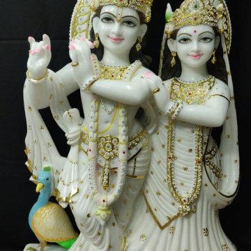 Marble Lord RADHA-KRISHNA Statue