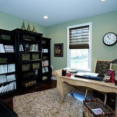 Contemporary Home Office by Marcia Goldman