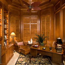 Tropical Home Office by Kevin Williams Construction, Inc.