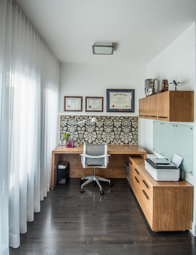 Contemporary Home Office by Alykhan Velji Design