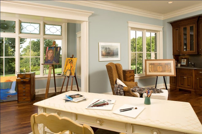 Rustic Home Office by Avondale Custom Homes