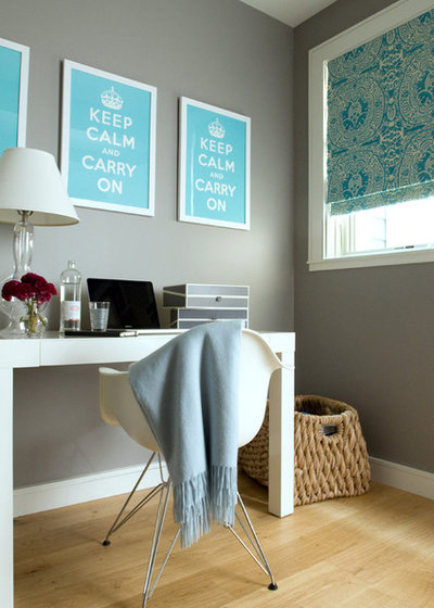 Transitional Home Office by Jute Interior Design