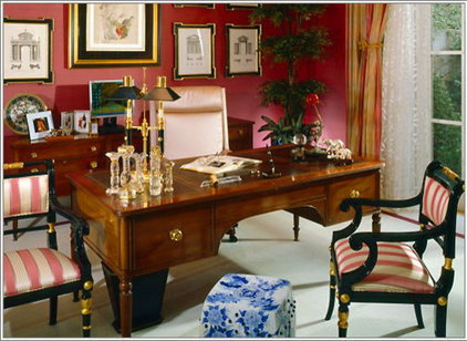 Traditional Home Office by MARK MORRIS DESIGN GROUP
