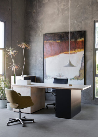 Industrial Home Office by Adele McNab Architect