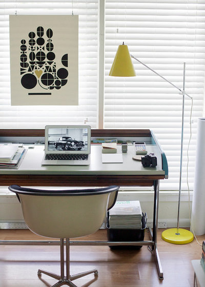 Modern Home Office & Library by Chris Nguyen, Analog Dialog