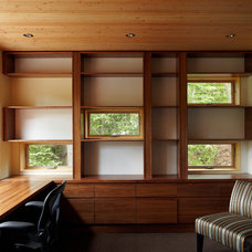 Contemporary Home Office by Altius Architecture, Inc.
