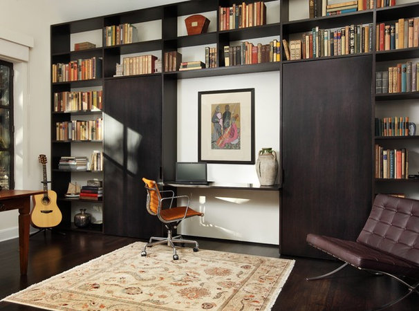 Contemporary Home Office by Soledad Builders, LLC