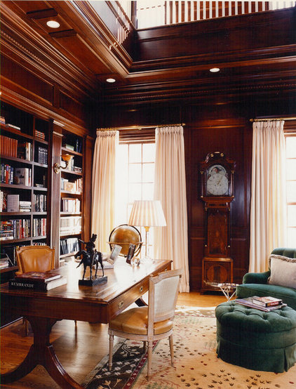 Traditional Home Office by BROWN DAVIS INTERIORS, INC.