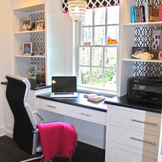 Transitional Home Office by House of Cline Design