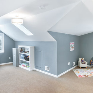 Inspiration for a transitional home office remodel in Detroit