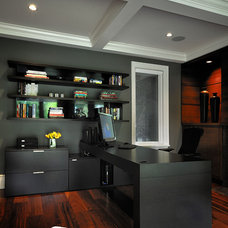 Contemporary Home Office by Erica Winterfield Design