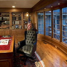 Traditional Home Office by Michael Matrka, Inc