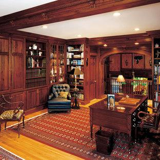 Свежая идея для дизайна: кабинет в классическом стиле - отличное фото интерьера