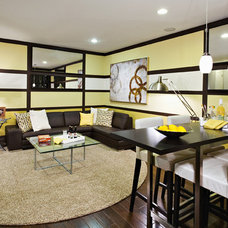 Contemporary Home Office by Home Builders Association of Maryland