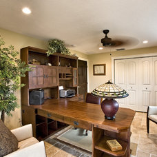 Eclectic Home Office by McClure Contracting, Inc.