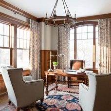 Traditional Home Office by Christine Huvé Interior Design