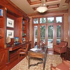 Mediterranean Home Office by Tradewind Designs, Inc.