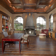 mediterranean home office by Soloway Designs Inc.