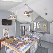 Mediterranean Home Office by Allan Edwards Builder Inc