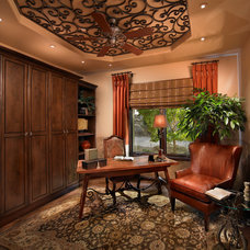 Mediterranean Home Office by Interior Expressions Design Showroom