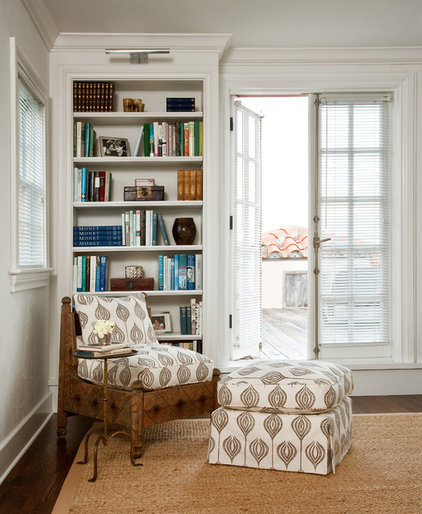 Mediterranean Home Office by Katherine Shenaman Interiors