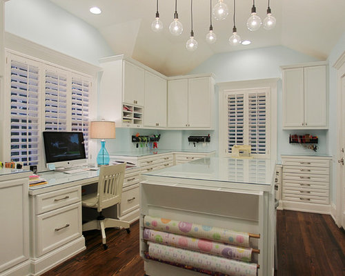 Best craft room design ideas remodel pictures houzz for Office craft room design ideas