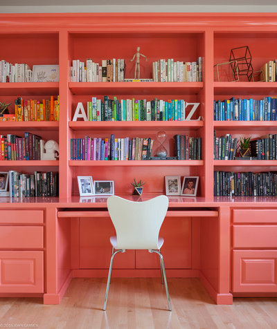 Contemporary Home Office & Library by Kimberlee Marie Interior Design
